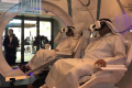 Visitors try out the Mars 2117 virtual reality experience at the World Government Summit in Dubai. Photo: Arjun Kharpal/CNBC