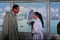 William Holden and Nancy Kwan meet in the Star Ferry terminal in their first scene together in 'The World of Suzie Wong'.