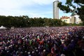 The rally in support of the adoption of a strict Islamic penal code in at Padang Merbok in Kuala Lumpur, Malaysia. Photo: Reuters