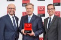 (From left): Christian Haart, chief operations officer; Christian Wulff, Top Consultant 2016 Award mentor; and Holger Korn, CEO