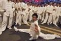 Performers and martial artists wearing Feiyue shows during a rehearsal for the opening ceremony of the 2008 Olympic Games in Beijing. Photo: AFP