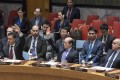 Chinese Ambassador to the UN Liu Jieyi (centre) votes against a UN Security Council draft resolution aiming to establish a sanctions regime over use of chemicals weapons in Syria at the UN headquarters in New York on Tuesday. Photo: Xinhua