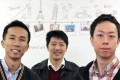 Klook founder Ethan Lin (left) says the company will be broadening its scope of operations beyond Asia. Also seen are co-founders Bernie Xiong and Eric Gnock Fah. Photo: May Tse
