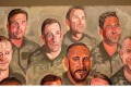 Paintings of wounded US military veterans by former US president George W. Bush. Photo: AFP