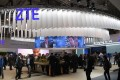 The ZTE stand on the first day of the ongoing Mobile World Congress in Barcelona, the world's biggest mobile fair. Photo: AFP
