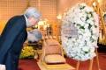 Japanese Emperor Akihito and Empress Michiko pay their respects to the late Thai King Bhumibol Adulyadej. Photo: Kyodo