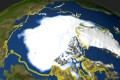 This file satellite photo taken on September 29, 2005 shows the minimum concentration of Arctic sea ice in 2005 that occurred on September 21. Scientists are warning sea ice could disappear due to global warming. Photo: AFP