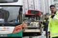 The traffic accident in Ngau Tau Kok involved a minibus and two buses. Photo: Nora Tam