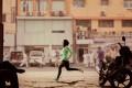 Zahra Lari runs in a scene shot for the Nike Middle East ad campaign filmed in Dubai, UAE. Photo: Reuters