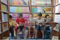 Children read books in a special reading area at the Yinchuan book centre in Yinchuan, Ningxia. Photo: Xinhua