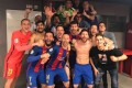 Barca dressing-room selfie after comeback over PSG. Photo: Arda Turan on Twitter