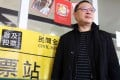 Benny Tai at a polling station on the Hong Kong University campus on Sunday. Photo: Dickson Lee