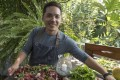 Josh Boutwood of The Test Kitchen with a salad of cured lamb at Antonio's in Tagaytay. Photo: George Tapan