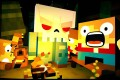 Slayaway Camp's blocky graphics are well suited to the cheesy slasher antics.
