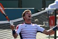 Pablo Carreno Busta celebrates match point as he defeats Pablo Cuevas in the quarter-final of the Indian Wells Masters. Photo: USA Today
