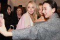 Tiffany Trump takes selfies backstage after the Taoray Wang show at New York Fashion Week in February. Photo: AFP
