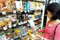 Shopping at a store selling Japanese goods in Taipei. Photo: EPA