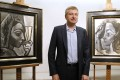 Dmitry Rybolovlev with artworks by Pablo Picasso that were among several he bought from a Swiss art dealer that led to the Russian billionaire losing US$150 million. Picture: AFP