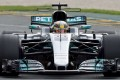 Mercedes' British driver Lewis Hamilton finished on top in both practice session on day one of the new F1 season. Photo: AFP