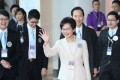 Carrie Lam won the chief executive election with 777 votes. Photo: Sam Tsang