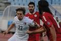 Hong Kong's Jaimes McKee in action against Lebanon. Photos: HKFA