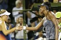 Venus Williams has beaten world number one Angelique Kerber to set up a semi-final clash with Konta. Photo: EPA