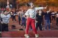 Five-year-old Dailan Jingyi leads her square dancers in Chongqing. Photo: Handout