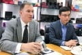 Primus Power CEO Tom Stepien (left) and Success Dragon International CEO Daniel Jiang Dan. Photo: Eric Ng