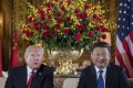 US President Donald Trump and Chinese President Xi Jinping at the Mar-a-Lago estate in West Palm Beach, Florida. Photo: AFP