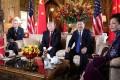 Melania and Donald Trump with Xi Jinping and Peng Liyuan at Mar-a-Lago. Photo: Reuters