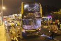 A Kowloon Motor Bus, Citybus and a green minibus collided at Yuen Long Highway near Pok Oi Interchange. Photo: Handout