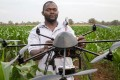 A drone used to monitor a plot of a heat-tolerant hybrid maize at the Chiredzi Research Station, in Zimbabwe, last year. Picture: AFP