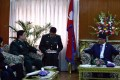 Nepalese Prime Minister Pushpa Kamal Dahal met with Chinese Defence Minister Chang Wanquan in March. Photo: Reuters