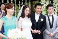 Chinese actress Yang Mi was married to Hawick Lau at the Bulgari Resort Bali in January, 2014.Photo: Imaginechina