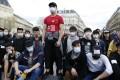 A protest at the Place de la République, in Paris, on April 2, over the death of Liu Shaoyo, who was shot dead by police. Picture: AFP
