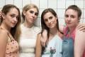 Jemima Kirke (left), Zosia Mamet, Allison Williams and Lena Dunham during the final season of Girls. Photo: HBO