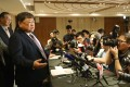 Forever Top chairman David Chiu at a media briefing on the rescue deal on Friday. Photo: Nora Tam