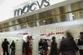Department stores such as Macy's have been closing hundreds of locations around the United States. Photo: AFP