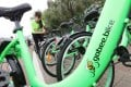 Nine Gobee bikes have been found damaged since the app launched. Photo: Felix Wong