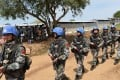 Chinese peacekeepers on patrol in Juba, the capital of South Sudan, last August. Photo: Xinhua