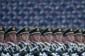 Chinese soldiers marching in formation during a military parade in Tiananmen Square in Beijing on September 3, 2015, to mark the 70th anniversary of victory over Japan and the end of the second world war. Photo: AFP