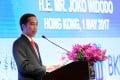 Joko Widodo attends a forum with Hong Kong and Indonesian business leaders. Photo: Sam Tsang