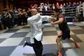 Tai chi master Wei Lei (left) was no match in combat for MMA fighter Xu Xiaodong: Handout