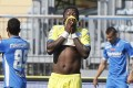 Pescara midfielder Sulley Muntari was sent-off following his protest over racial abuse. Photo: EPA