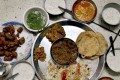 A thali in Rajasthan with a selection of chutneys. Photo: Alamy