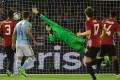 Marcus Rashford's strike beats Celta Vigo goalkeeper Sergio Alvarez in the 1-0 first-leg win for Manchester United. Photo: AFP