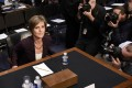 Former acting US Attorney General Sally Yates prepares to testify on MOnday before the Senate Judiciary Committee's Subcommittee on Crime and Terrorism on Russian interference in the US presidential election on Capitol Hill in Washington. Photo: TNS