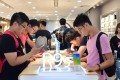 An Oppo experience store in Guangzhou, where users can try out smartphones. Oppo's R9s shipped 8.9 million units for third place worldwide in the first quarter. Photo: Handout