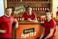 This screen grab from YouTube shows (from left) Wayne Rooney, Angel Di Maria and Michael Carrick in an Aperol Spritz advertisement.