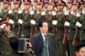 Chinese vice-premier Qian Qichen inspects elite PLA troops in Shenzhen in 1996. Photo: SCMP